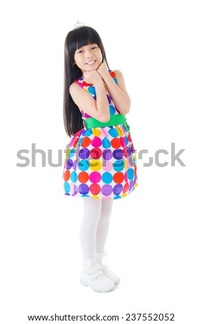 Cute asian girl - stock photo