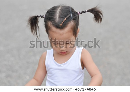 Cute asian girl hairstyle