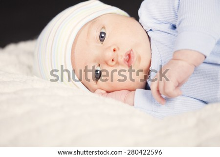 Cute baby boy portrait