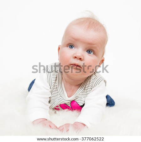 Cute baby girl isolated