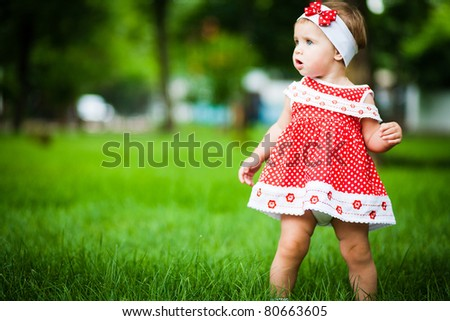 cute baby-girl outdoors