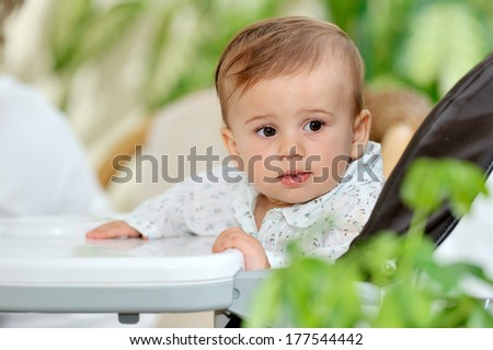 cute baby girl portrait indoors