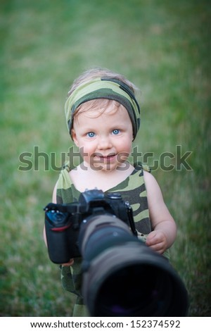 Cute Baby Nature Photographer