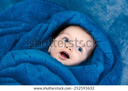 Cute baby smile - stock photo