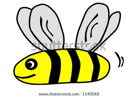 cute bee clipart stock illustration 1140068 shutterstock rh shutterstock com cute busy bee clipart cute bee clipart black and white
