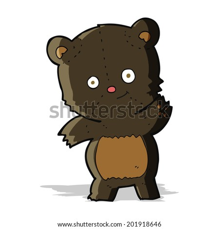 cute black bear cartoon