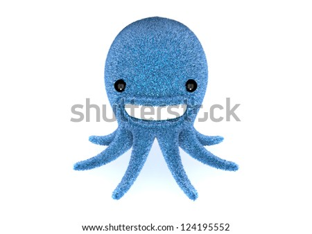 Cute blue octopus