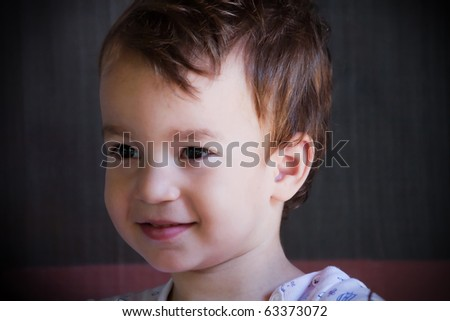 Cute boy portrait