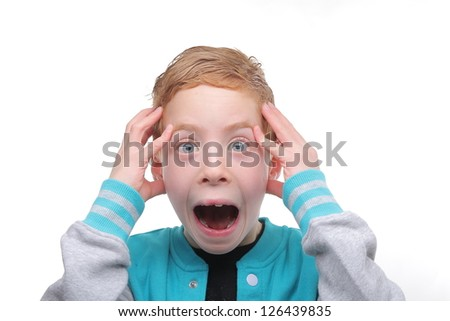 cute boy screaming stock photo image royalty free 126439835