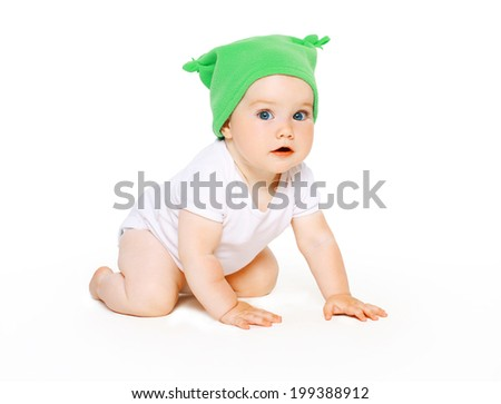 Cute charming baby - stock photo