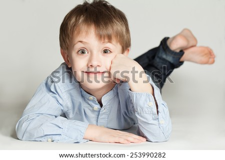 Cute child boy - stock photo