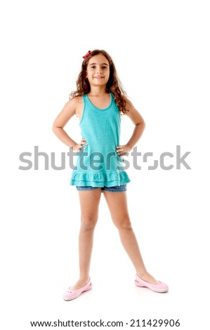 Cute Child looking at the camera . - stock photo