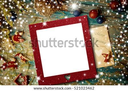 Cute Christmas Ornaments Stars Empty Photo Stock Photo (Royalty Free ...