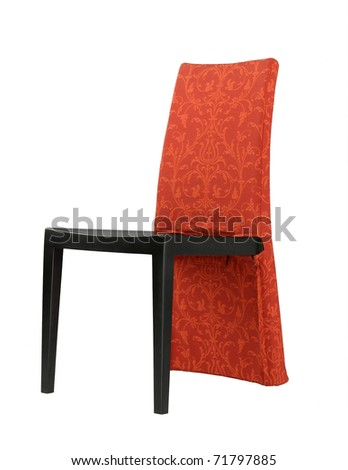 Cute design of the red chair for dinning rooms or living rooms