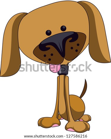 Cute dog illustration - stock photo