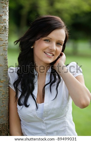 Cute female smiling - stock photo