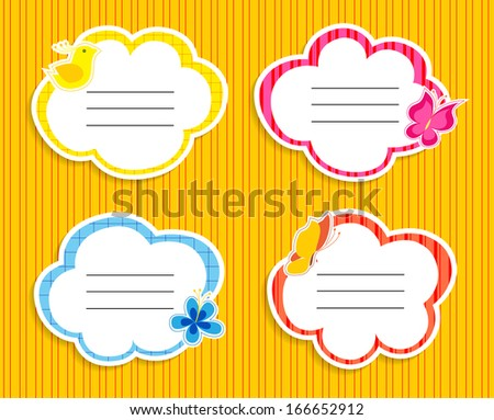 Cute frames collection - stock photo