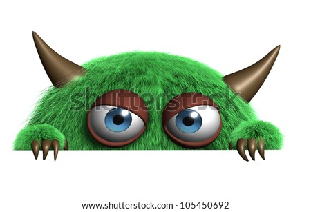 cute furry goblin  - stock photo
