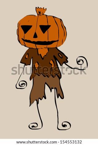 Cute Ghost  cartoon clip art  - stock photo