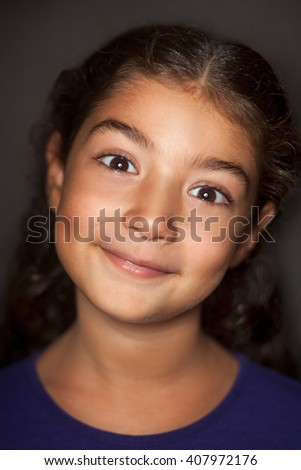 Cute girl portrait - stock photo