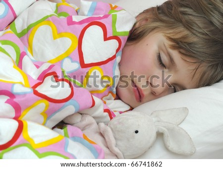 Cute girl sweet dreams - stock photo