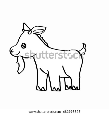 Cute Goat Coloring Page