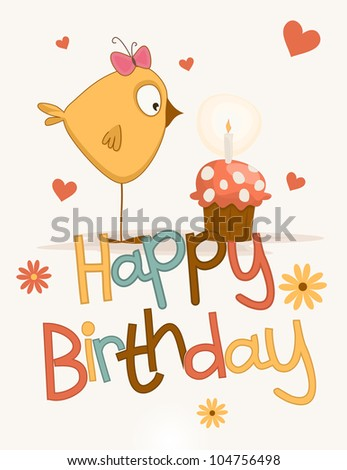 Cute happy birthday card stock illustration 104756498 shutterstock bookmarktalkfo Images