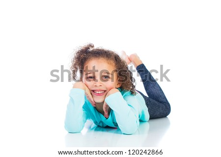 Cute kid with a happy smile - stock photo