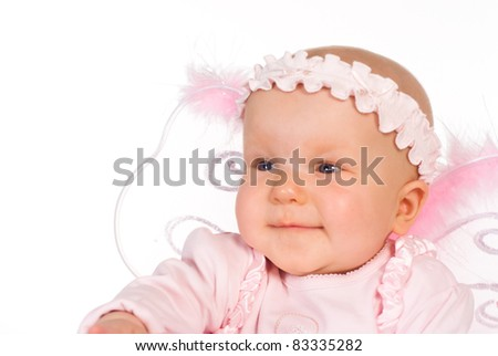 cute little baby on a white background