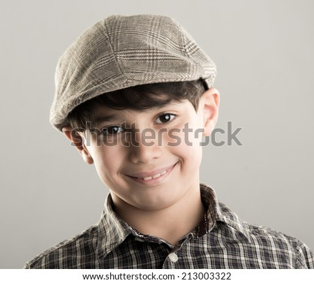Cute little boy with cap