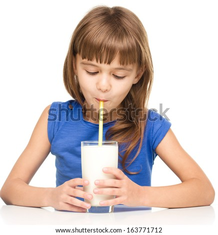 girl drinks breast milk