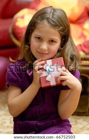 cute little girl portrait - stock photo
