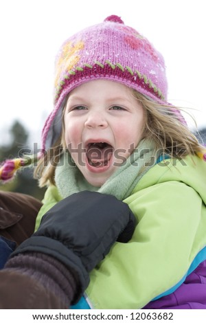 Cute little girl who is so happy. - stock photo