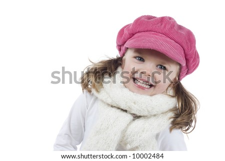 cute little girl with pink hat