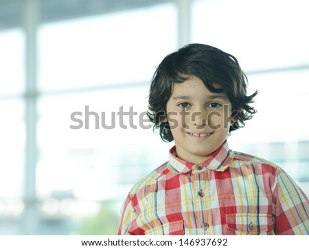Cute little kid portrait - stock photo
