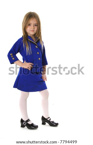 cute little model in a business suit