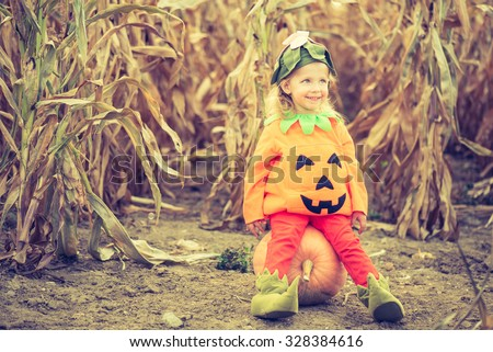 Cute little pumpkin - stock photo