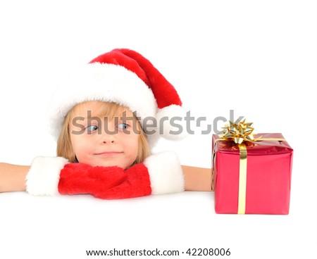 Cute little Santa - stock photo