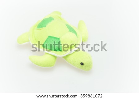 cute little Stuffed  green sea turtle for little kids and baby for play and learning.