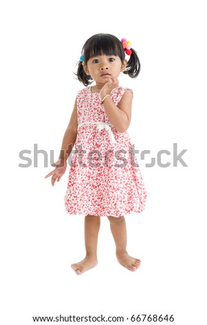 cute llittle girl isolated on white background