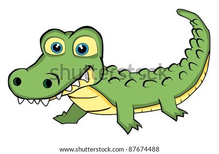 Cute Looking Crocodile - stock photo