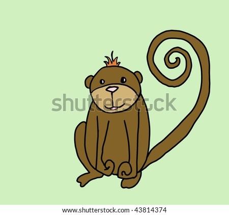 cute monkey - stock photo