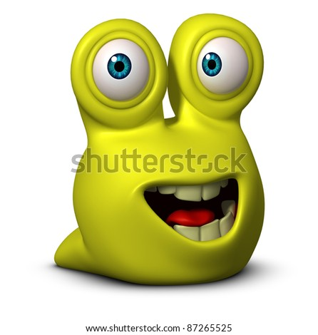 cute monster - stock photo