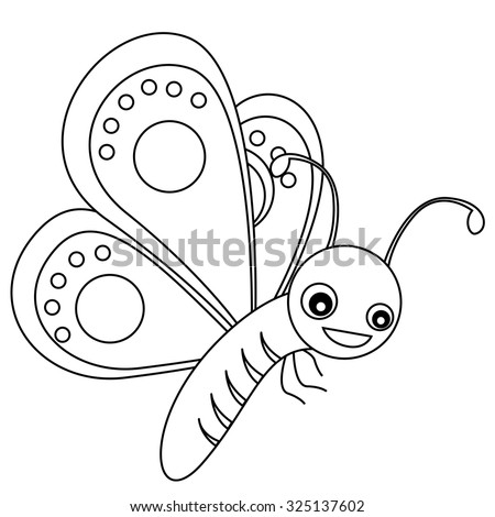 Stock images royalty free images vectors shutterstock for Cute butterfly coloring pages