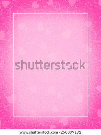 Cute pink color blank empty background stock illustration 258899192 cute pink color blank empty background perfect as stylish wedding invitations and other party stopboris Images