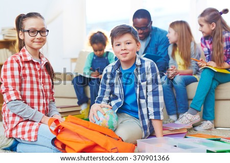 Cute preschoolers - stock photo