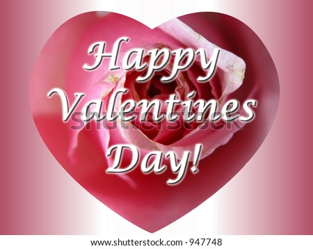 Cute Romantic Pink Rose Heart Message Photo 947748 – Happy Valentines Card Messages