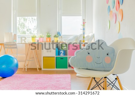 Cute room for little girl or boy - stock photo