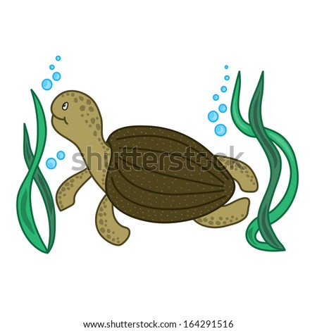 Cute sea turtle cartoon