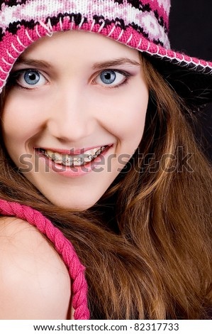 Cute smile - stock photo